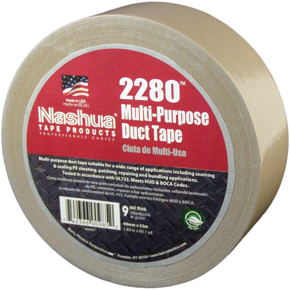 Nashua Tape 1.89 in. x 60.1 yds. 2280 Multi-Purpose Tan Duct Tape