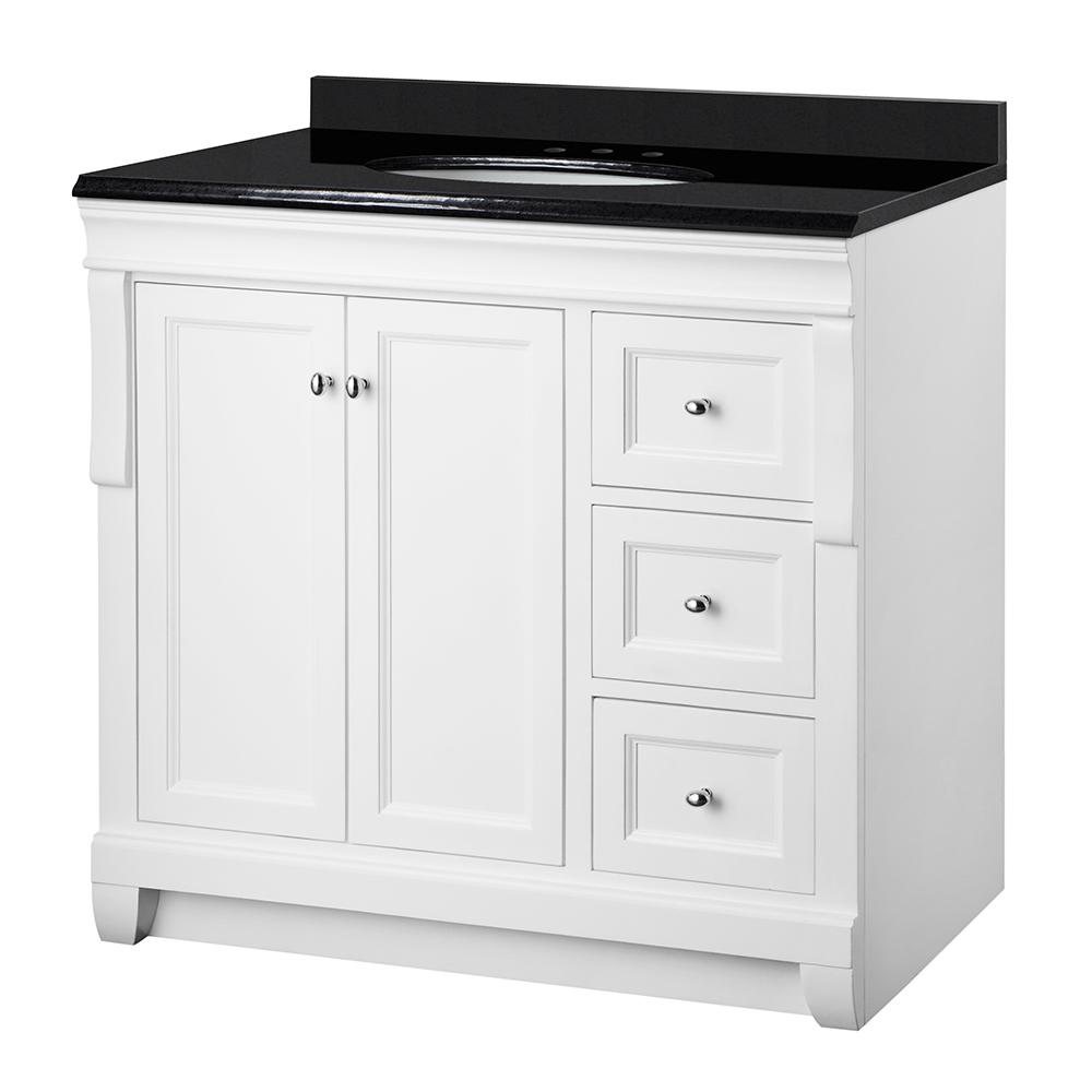 Foremost Naples 37 in. W x 22 in. D Vanity in White with ...