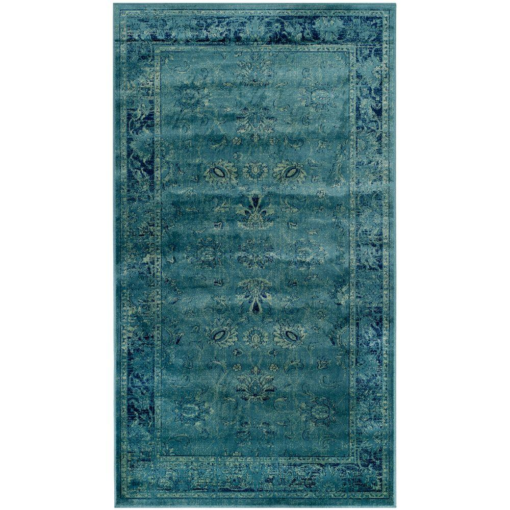 Safavieh Vintage Turquoise/Multi 4 ft. x 5 ft. 7 in. Area Rug