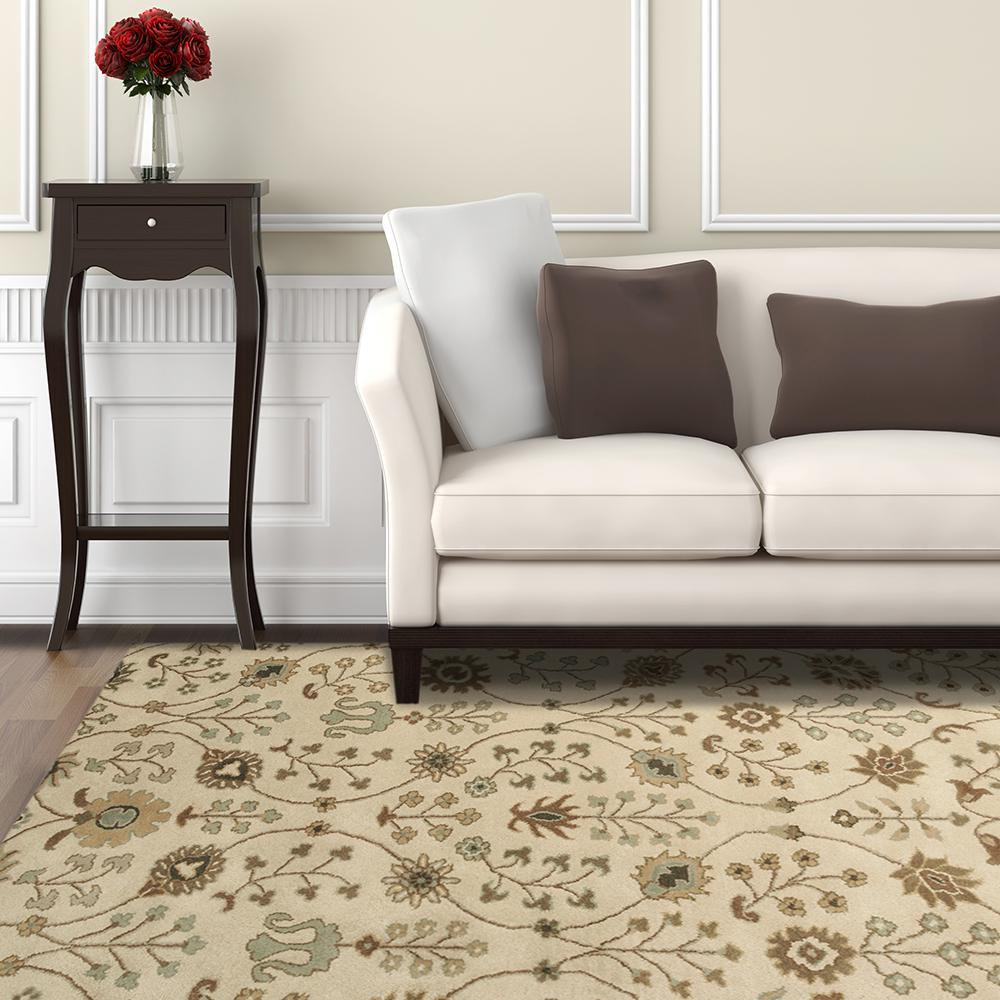 Home Decorators Collection Provencial Cream Wool 9 ft. x 12 ft. Area Rug