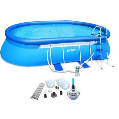 20 ft. x 12 ft. x 48 in. D Oval Metal Frame Pool Set