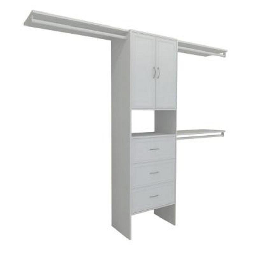 15 in. D x 121 in. W x 82.5 in. H White Premium Wood Closet System