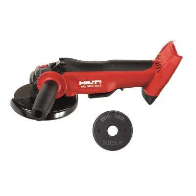 22-Volt Cordless, Brushless 5 in. Angle Grinder AG 500 A22 with Kwik Lock