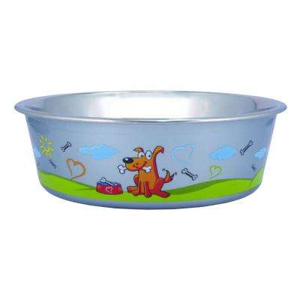 Pets 0.42 Gal. Multi-Print Stainless Steel Dog Bowl (Set of 24)