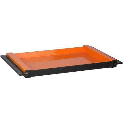 Rikide Bright Orange 10 in. Decorative Tray