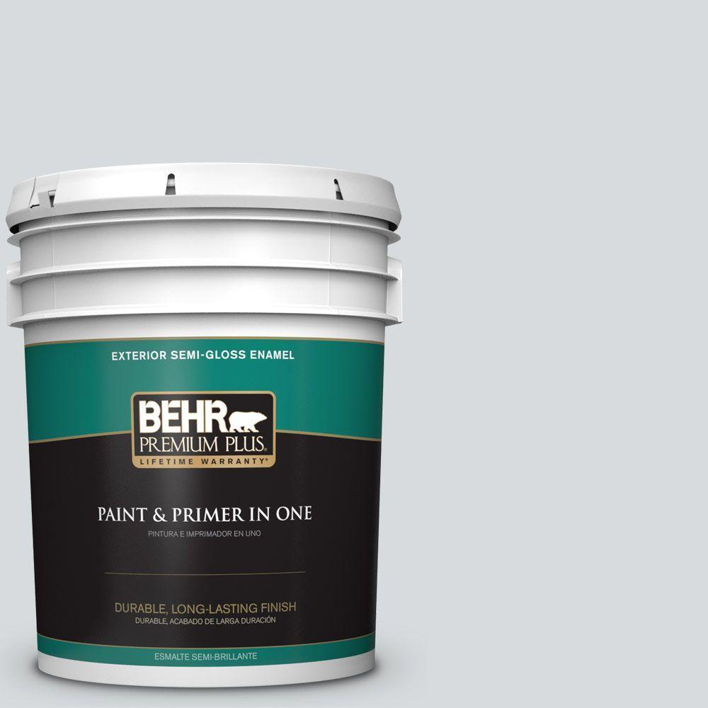 BEHR Premium Plus 5-gal. #ECC-33-2 Silver Sands Semi-Gloss Enamel Exterior Paint