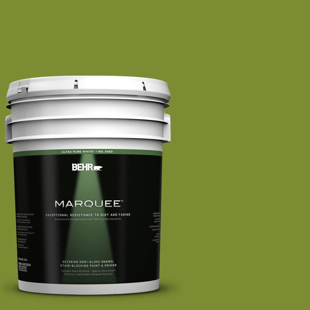 BEHR MARQUEE 5-gal. #P360-7 Sassy Grass Semi-Gloss Enamel Exterior Paint