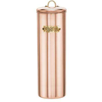 12 in. Decor Copper Pasta Canister