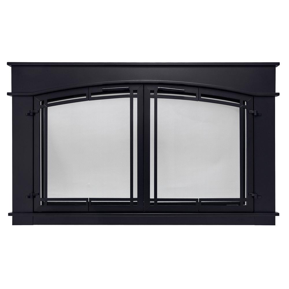 Pleasant Hearth Fieldcrest Small Glass Fireplace Doors Fc 5902 The