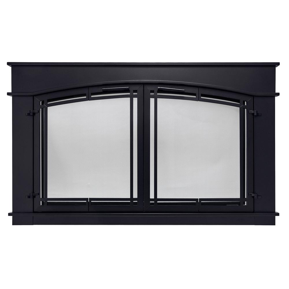 Pleasant Hearth Fieldcrest Large Gl Fireplace Doors