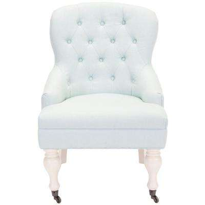 Falcon Robins Egg Blue/Ivory Cotton Blend Arm Chair