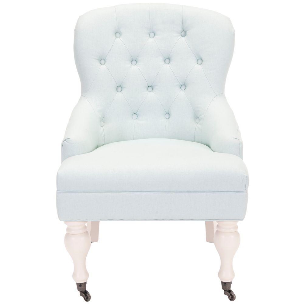 Falcon Robins Egg Blue/Ivory Cotton Blend Arm Chair