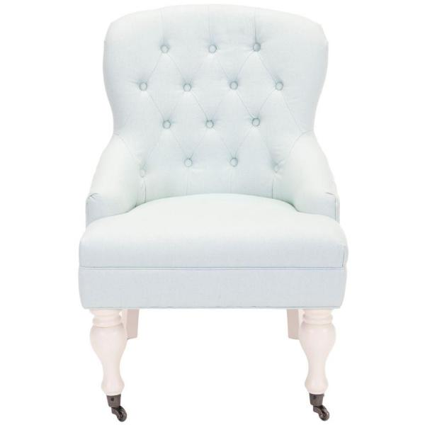 Safavieh Falcon Robins Egg Blue/Ivory Cotton Blend Arm Chair MCR4544B