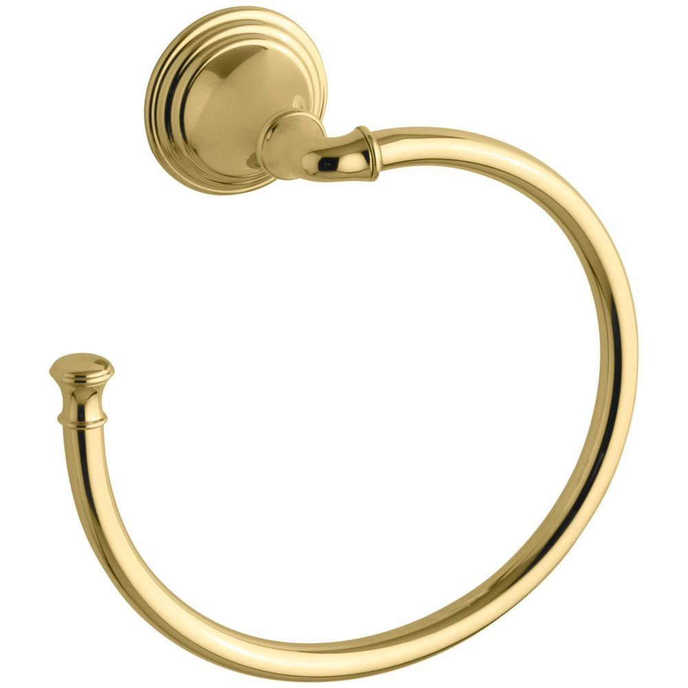 KOHLER Devonshire Towel Ring in Vibrant Polished Brass-K-10557-PB ...