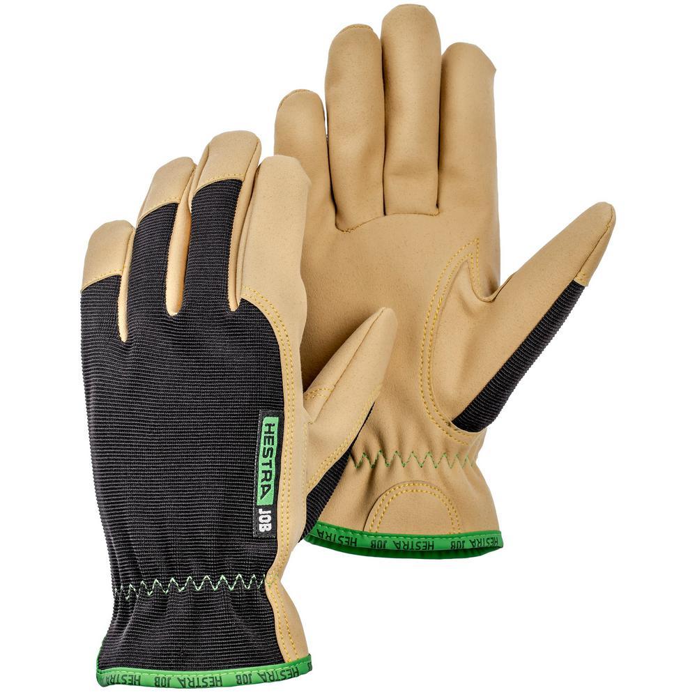 DuraTan Size 8 Tan/Black AX Suede Gloves