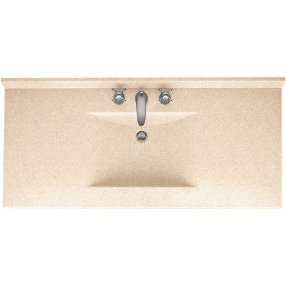Swan Contour 49 in. W x 22 in. D x 10-1/4 in. H Solid-Surface Vanity Top in Cornflower with Cornflower Basin