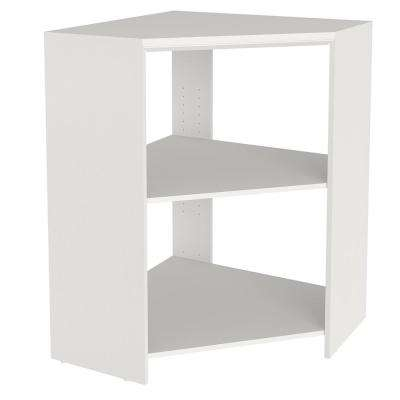 Impressions 28.7 in. x 28.7 in. x 41.1 in. White Laminate Corner Unit