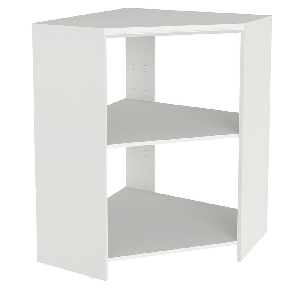 Corner Stackable Closet Organizer 3Shelves Storage White Laminate Shelf  Kits NEW
