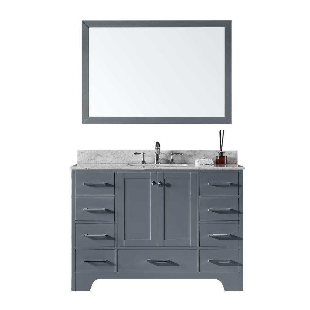 New Maple Walnut Single Sink Bathroom