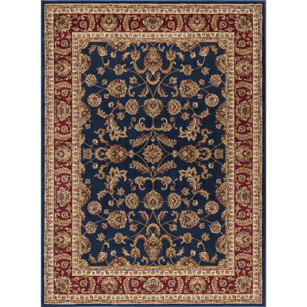 Tayse Rugs Sensation Navy Blue 5 ft. 3 in. x 7 ft. 3 in. Transitional Area Rug