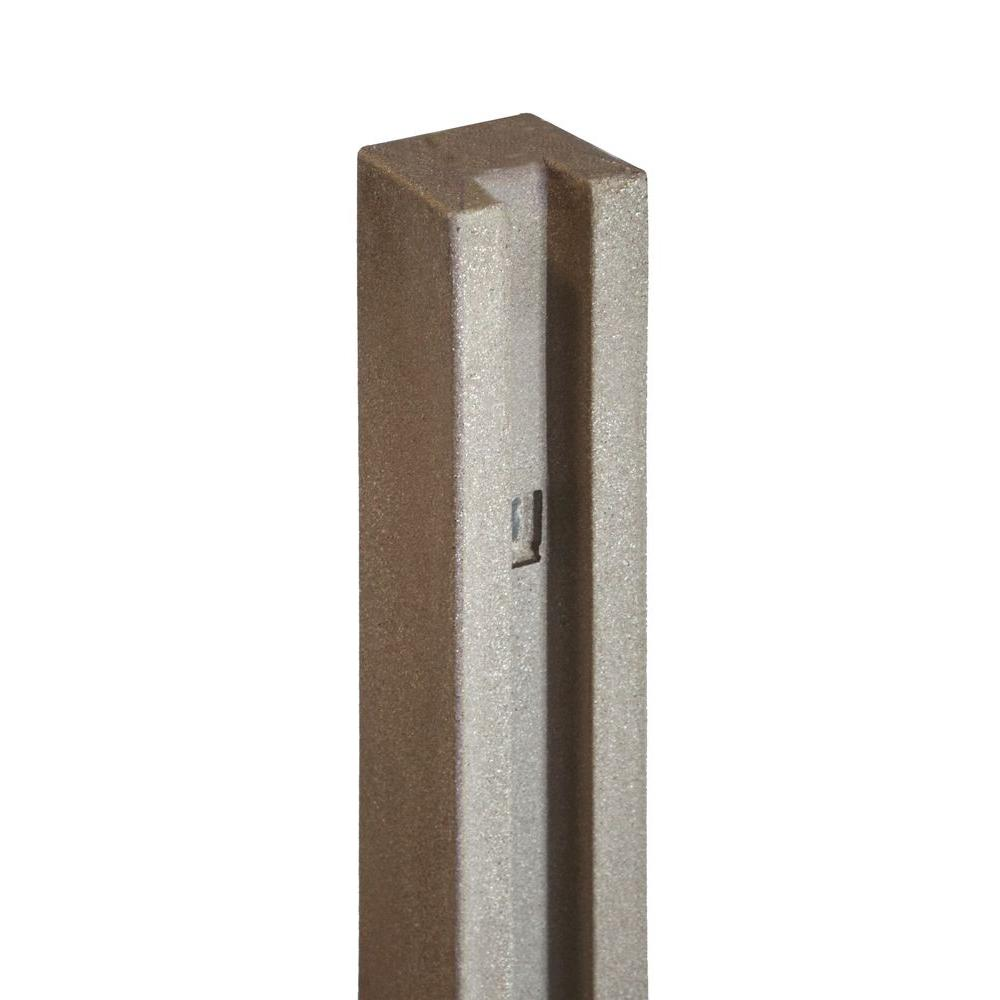 SimTek 5 in. x 5 in. x 8-1/2 ft. Brown Composite Fence End Post