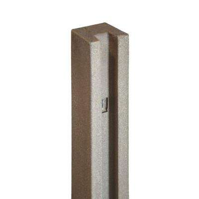5 in. x 5 in. x 8-1/2 ft. Brown Composite Fence End Post
