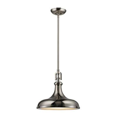 Rutherford 1-Light Brushed Nickel Pendant