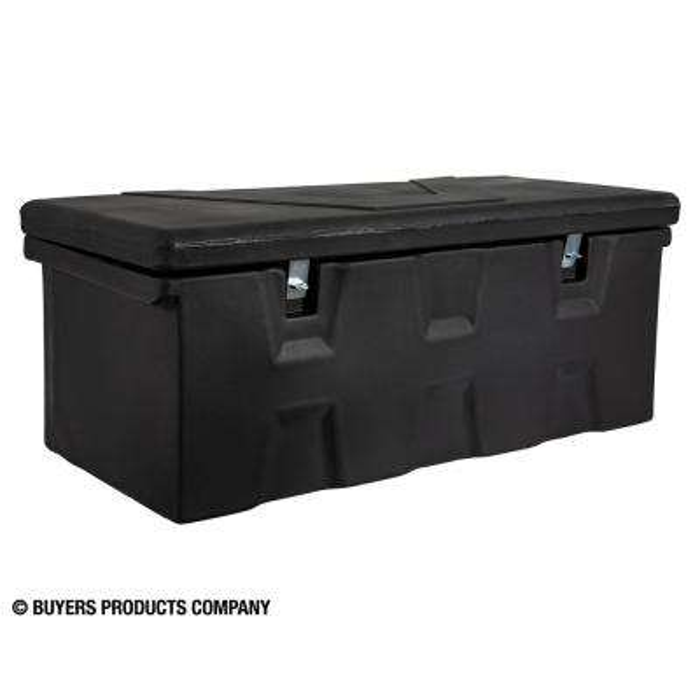 17.25 in. x 19 in. x 44 in. Matte Black Plastic All-Purpose Truck Tool Box Chest
