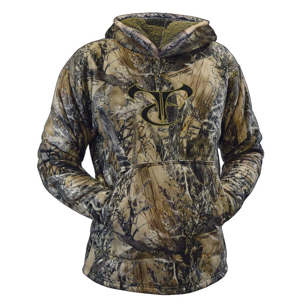 TrueTimber Camo Men's Medium MC2 Camouflage High Pile Fleece Hoodie with TC Logo