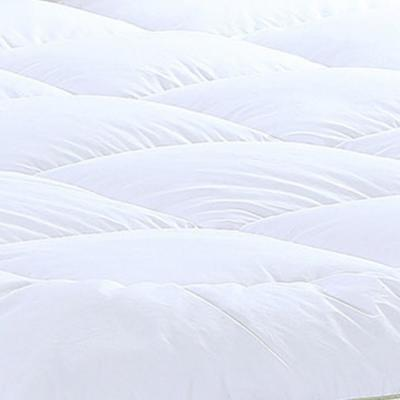 Christies Home Living Square Quilted King Accent Piping Fitted Mattress Pad Covers Stretches Up to 18 in. Deep