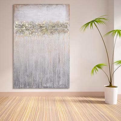 """""""Dust"""" Textured Metallic Hand Painted Wby Martin Edwards Abstract Canvas Wall Art"""