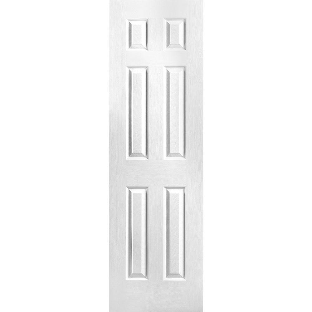 24 in. x 80 in. Textured 6-Panel Hollow Core Primed Composite Interior Door Slab