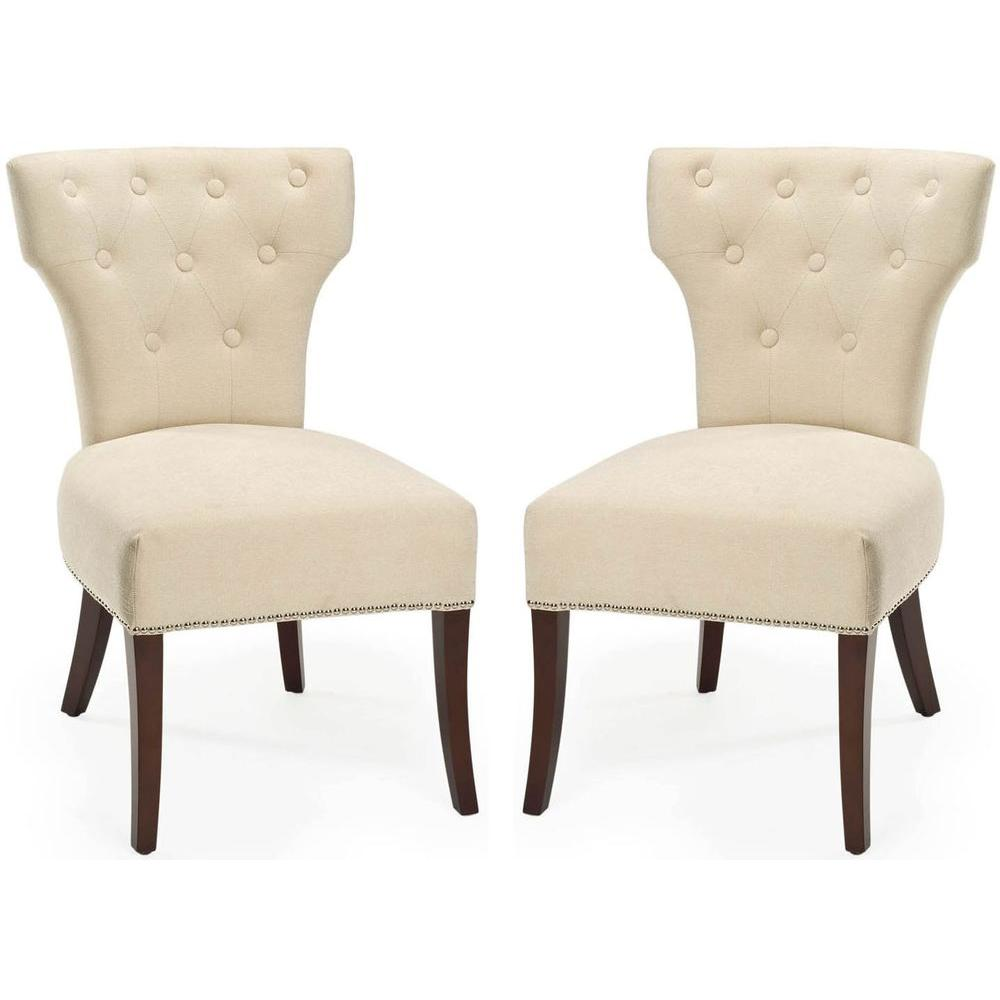 Broome Natural Cream Cotton Blend Side Chair (Set of 2)