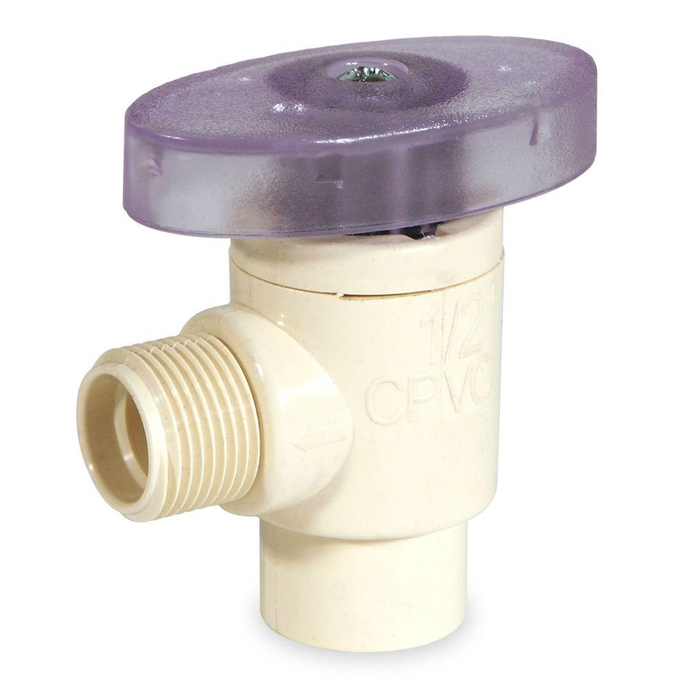 KBI 1/2 in. x 1/2 in. OD CPVC CTS Angle Supply Valve