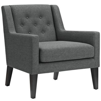 Earnest Gray Upholstered Fabric Armchair