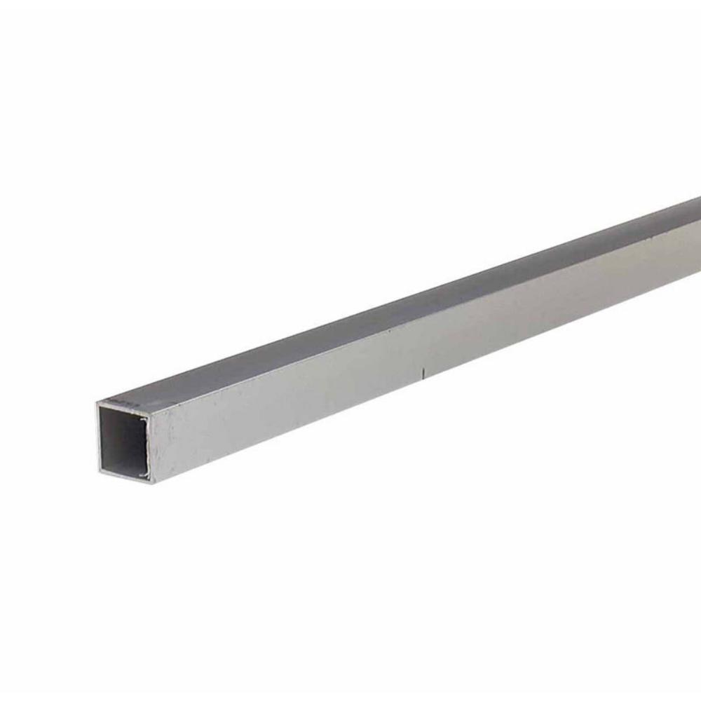 M-D Building Products 1 in. x 96 in. Mill Aluminum 0.063 in. Thick Square Tubing