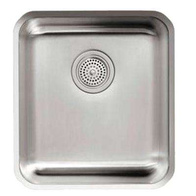 Undertone Undercounter Undermount Stainless Steel 15.5 in. 0 hole Single Basin Kitchen Sink