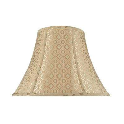 18 in. x 13 in. Gold and Geometric Design Bell Lamp Shade