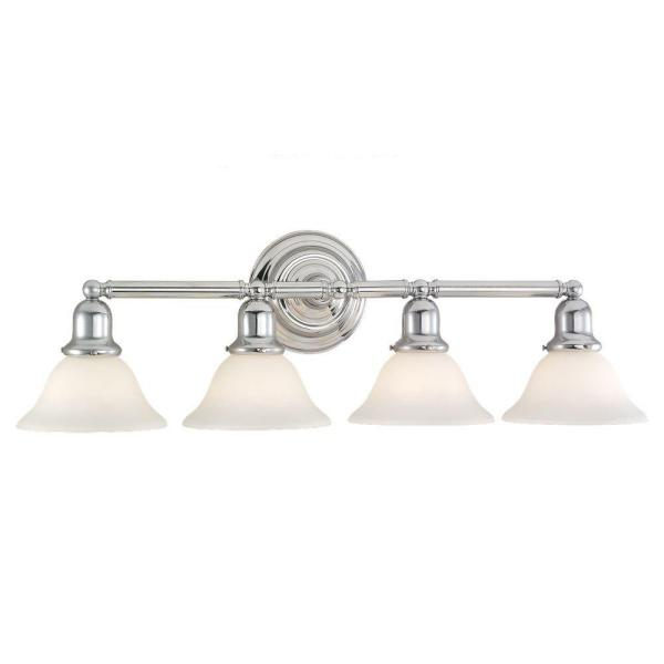 Sussex 4-Light Chrome Vanity Light
