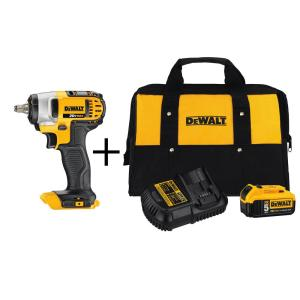 Dewalt 20-Volt MAX Lithium-Ion Cordless 3/8 inch Impact Wrench with Hog Ring (Tool-Only) with Bonus Battery 5Ah Starter... by DEWALT