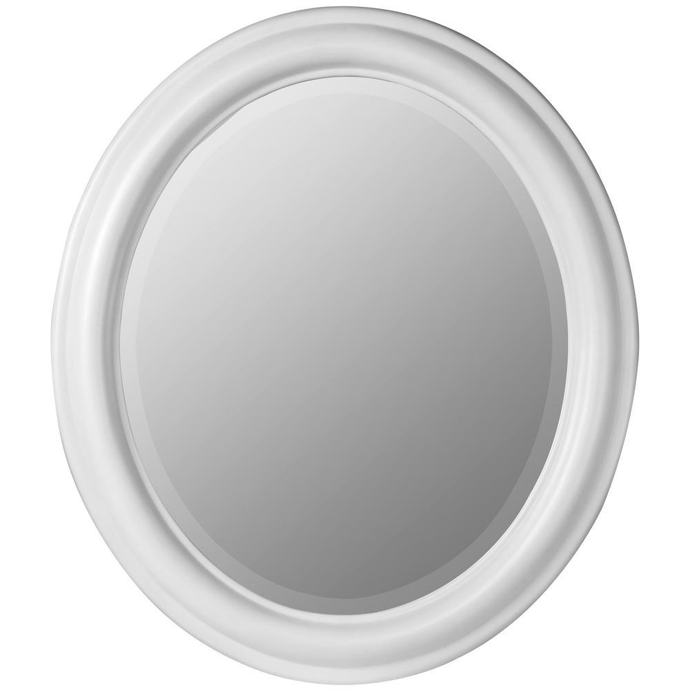 Brooks White Decorative Mirror