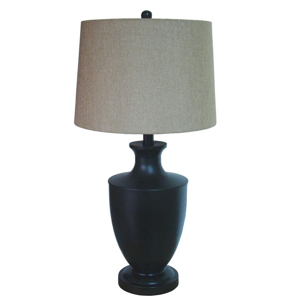 Fangio Lighting 32 in. Bronze Metal Table Lamp