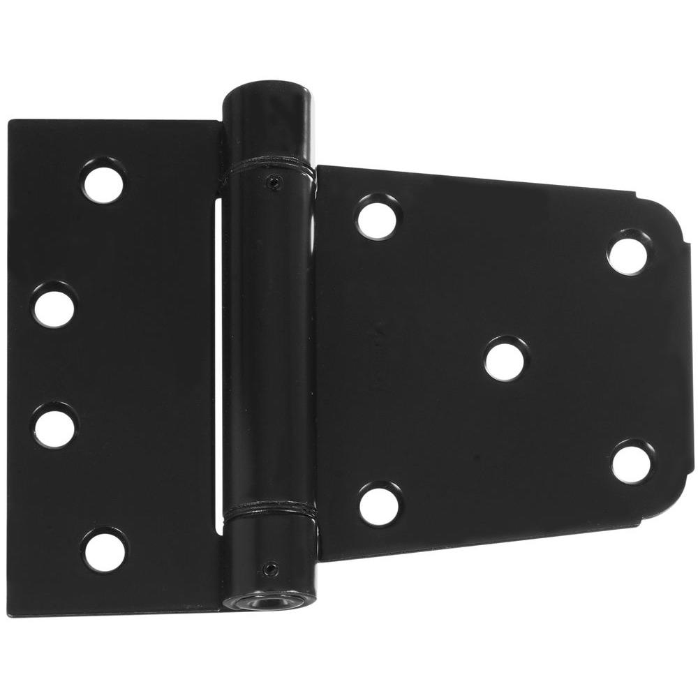 3-1/2 in. Black Heavy Duty Auto-Close Gate Hinge