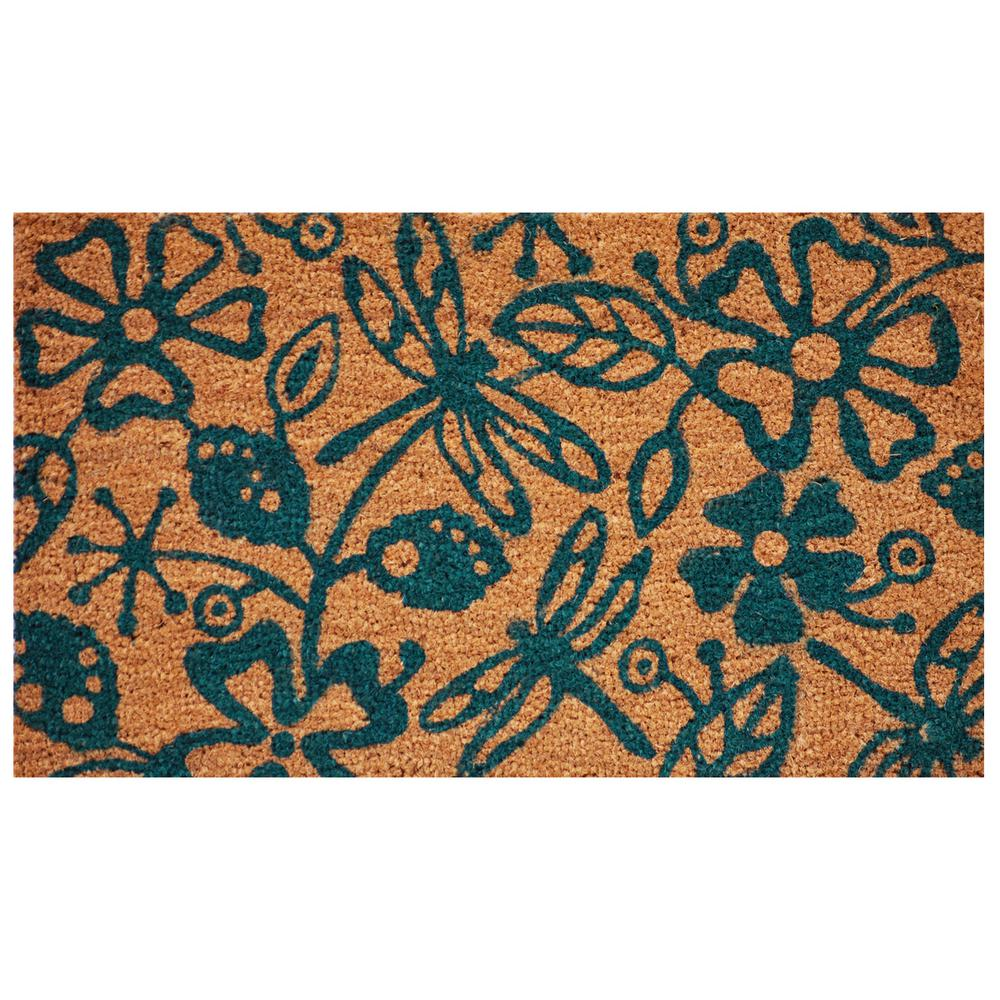 Dragonflies 17 in. x 29 in. Coir Door Mat