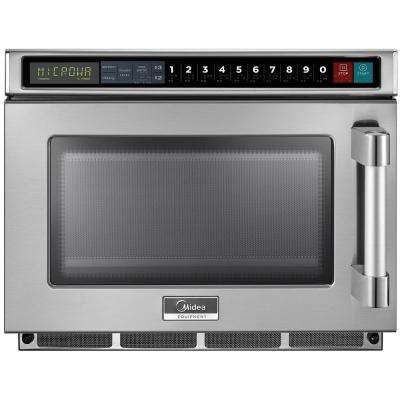 0.6 cu. ft. 1200-Watt Commercial Counter Top Microwave Oven in Stainless Steel Interior and Exterior, Scan and Go