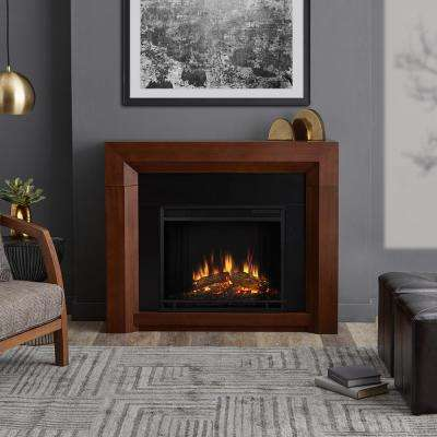 Hughes 42 in. Electric Fireplace in Vintage Black Maple
