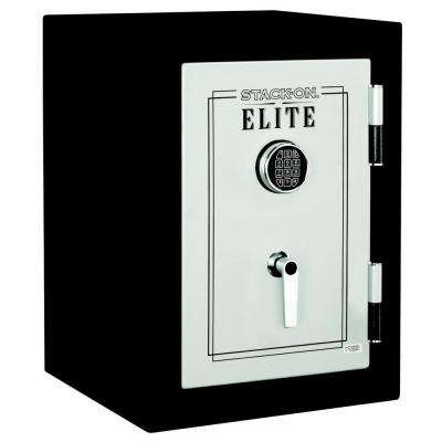 Elite Executive Fire Safe with Electronic Lock in Matte Black/Silver