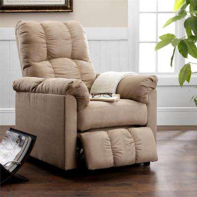 Easton Beige Microfiber Recliner