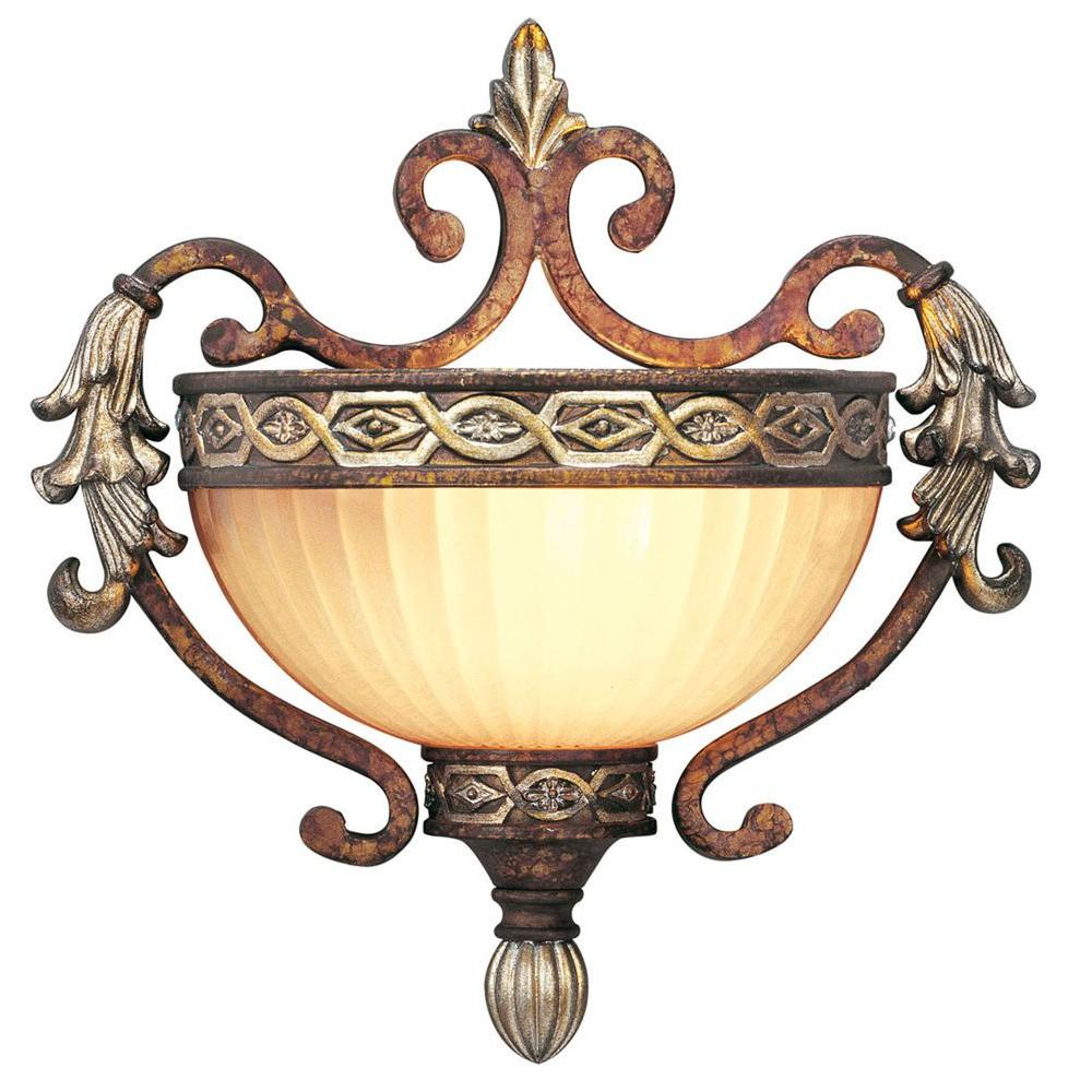Providence 1-Light Palatial Bronze with Gilded Accents Incandescent Wall Mount