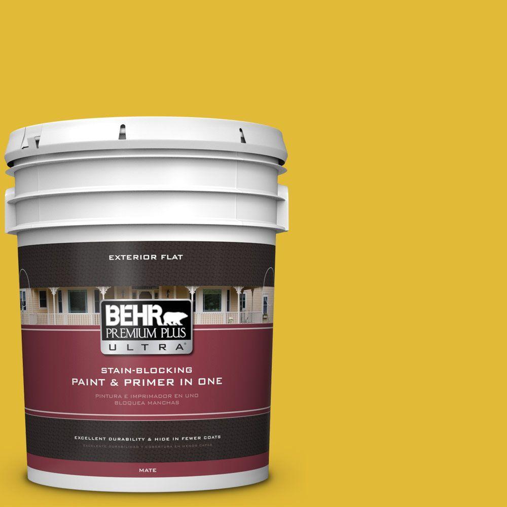 BEHR Premium Plus Ultra 5-gal. #P310-7 Solarium Flat Exterior Paint